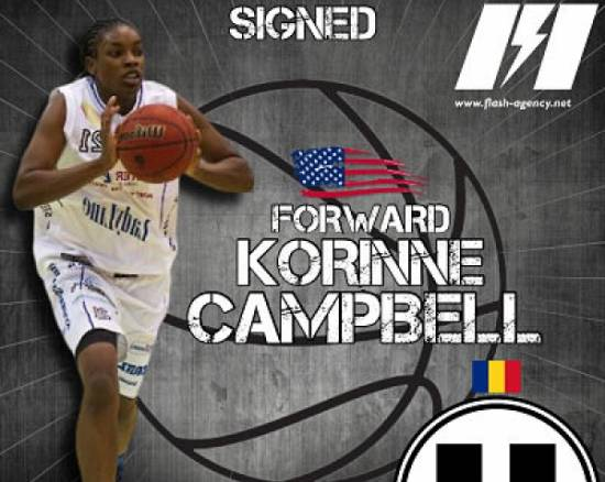 Korinne Campbell has signed with Universitatea Cluj